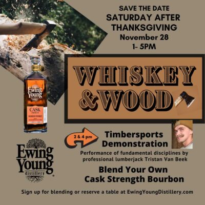 Whiskey and Wood Ewing Young Distillery